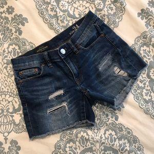 J. Crew • Distressed Denim Shorts